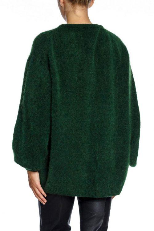 Grønn, sort, beige eller lyseblå oversized lang mohairmix cardigan American Vintage - zabi 19a