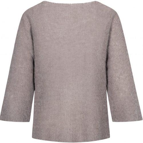 Hazy brown, nougat melange (offwhite) eller sort alpakkamiks genser med 3/4 erm Gai+Lisva - edda