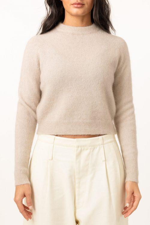 Lys beige soft mohair kort turtle genser Cathrine Hammel - soft girlfriend
