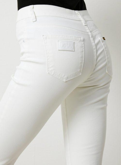 Hvit coated 'Raval' flare bukse ('skinnbukse') Lois Jeans - Raval montana