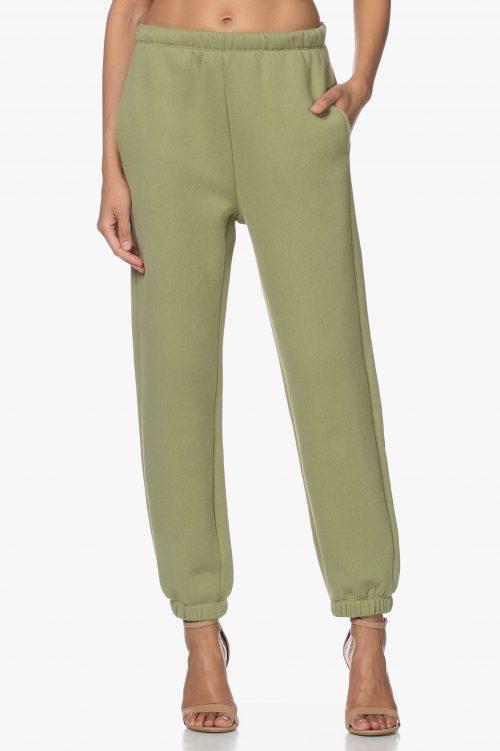 Olivengrønn eller taupe-rosa bomullsmix sweatpants American Vintage - ika05a