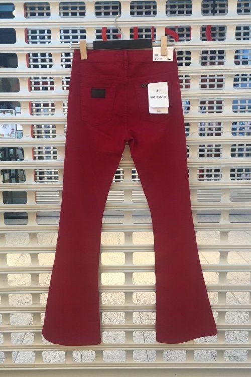 Rød, sort, navy, oliven, brun, beige eller lindegrønn flare bukse Lois - 2007-6371 Raval Brisa 'Eco Black' L3/L32/L34