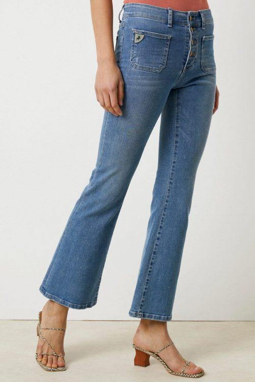 Trippel stone jeans med små lommer og knapper Lois Jeans - Gaucho aluca tripple 2705-6422