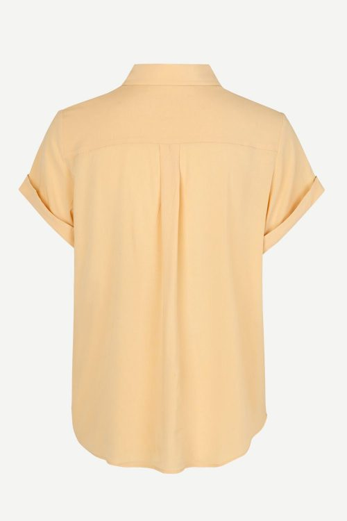 Caribou, ice blue eller sahara sun viskose skjorte med kort erm Samsøe - Majan ss shirt 9942
