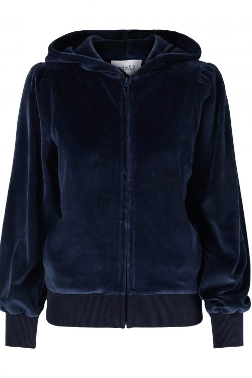 Navy velour hoodie jacket Ella&Il - mim jacket