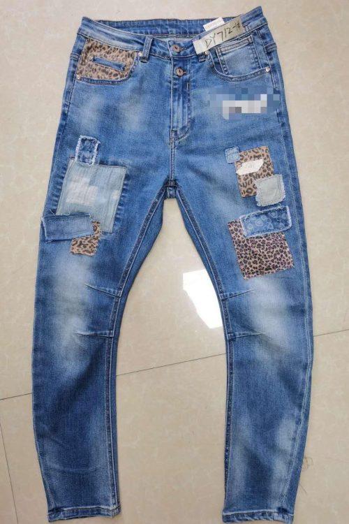 Leopatch lappet jeans Cabana Living - DY 712 leo denim light blue