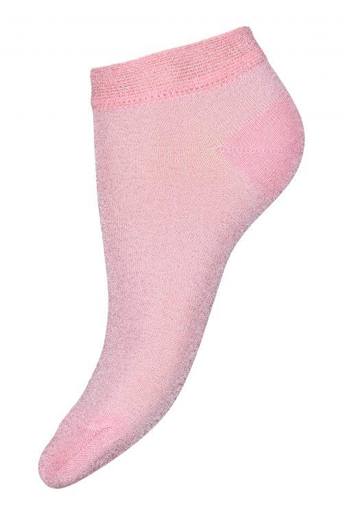 Sølvhvit, sort, pudder, rosa, grønn 'Prima' lave sneaker sokker MP Denmark - 77633 prima glitter sneaker socks