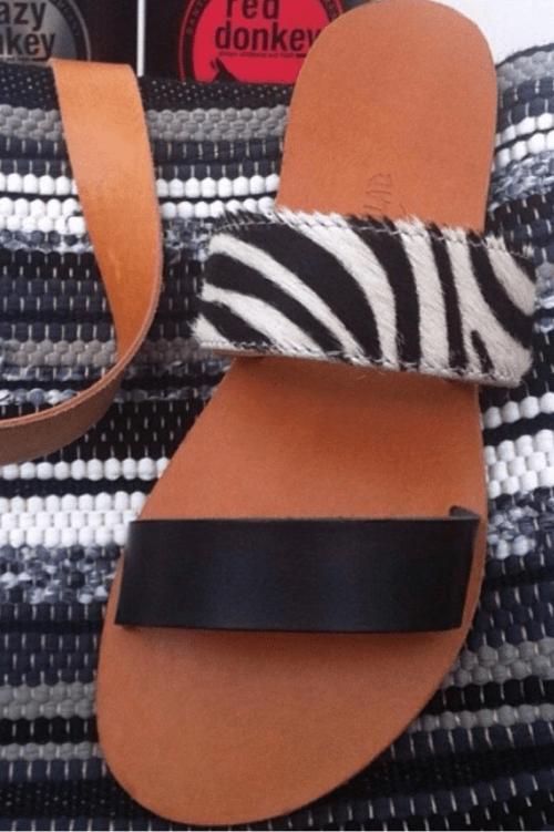Zebra sandal Greek Salad Sandals
