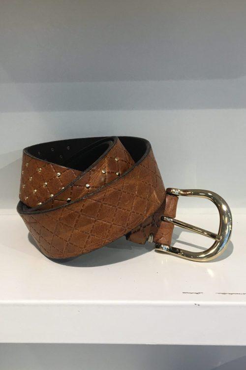 Belte 'Lina gold' med små studs b.belt – BB0851L10 Lina gold color 0645