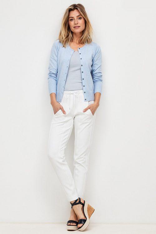 Sort trendy sweatpants Cambio - 6320 0343-01 jordan seam cropped Sees her i hvit farge for bedre å se detaljene.