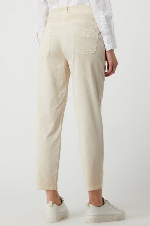 Lindegrønn eller sand viskose/bomull bukse med frontsøm Cambio - 7656 0282-01 klementine 27