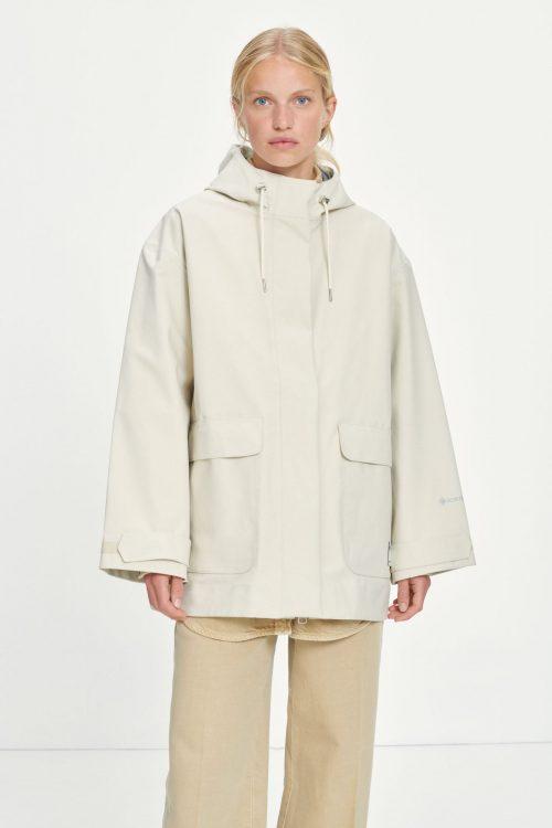 Offwhite vannavstøtende Gortex jakke med hette Samsøe - 13037 barri jacket