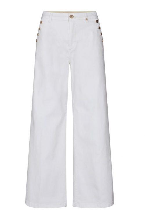 Hvite sailor jeans med knapper Mos Mosh - 138890 Reem Vera White Jeans