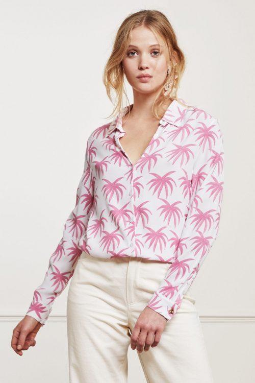 Rosa palmer viskose ledig skjorte Fabienne Chapot - Lily blouse