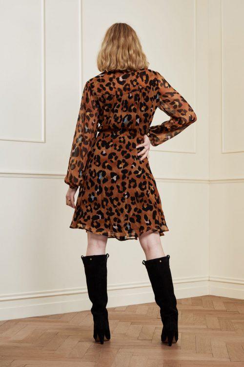 Leopard kjole Fabienne Chapot - frida cato short dress