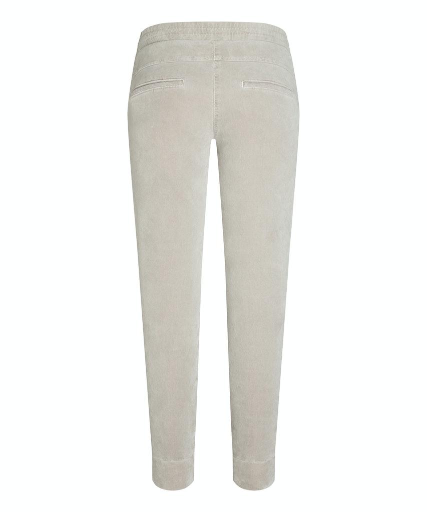 Isgrå velour sporty bukse med glidelås Cambio - 7505 0250-01 jordan 29