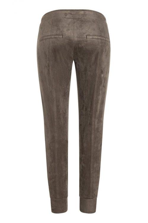Sigarfarget alkantara sporty bukse med snøring og skrålommer Cambio - 7047 0390-09 jorden 29