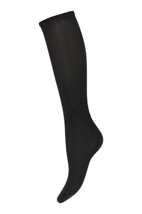 Sort klassisk knestrømpe med glitter MP Denmark - 89508-08 Nelly knee socks 52% Polyamid / 44% Metallic / 4% EA