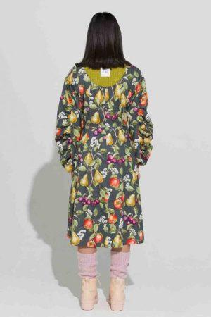Apples and pears vid 100% bomull kjole Ilag - kjeåsen