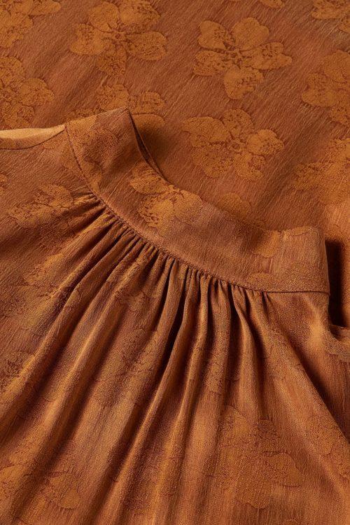 Brandy cuproviskose t-neck blusetopp Fabienne Chapot - mitchell top