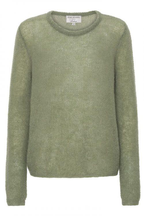 Hunter green, blå, brun, sort eller bladgrønn mohairmix basic genser Dear Dharma - new maddy
