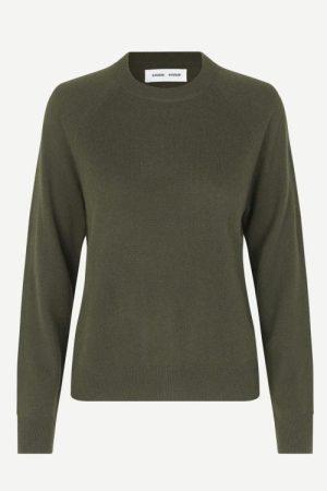 Star fish taupe eller dark olive green cashmere genser Samsøe - 6304 boston o-neck
