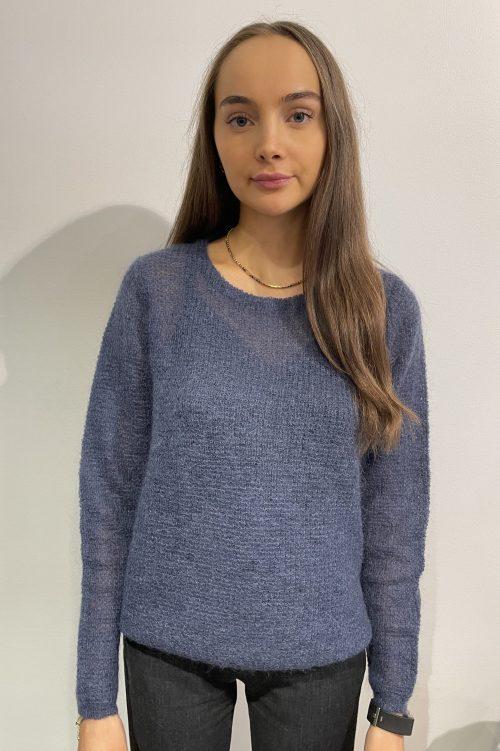 Tynnstrikket mohairmix genser Dear Dharma - new maddy / blue