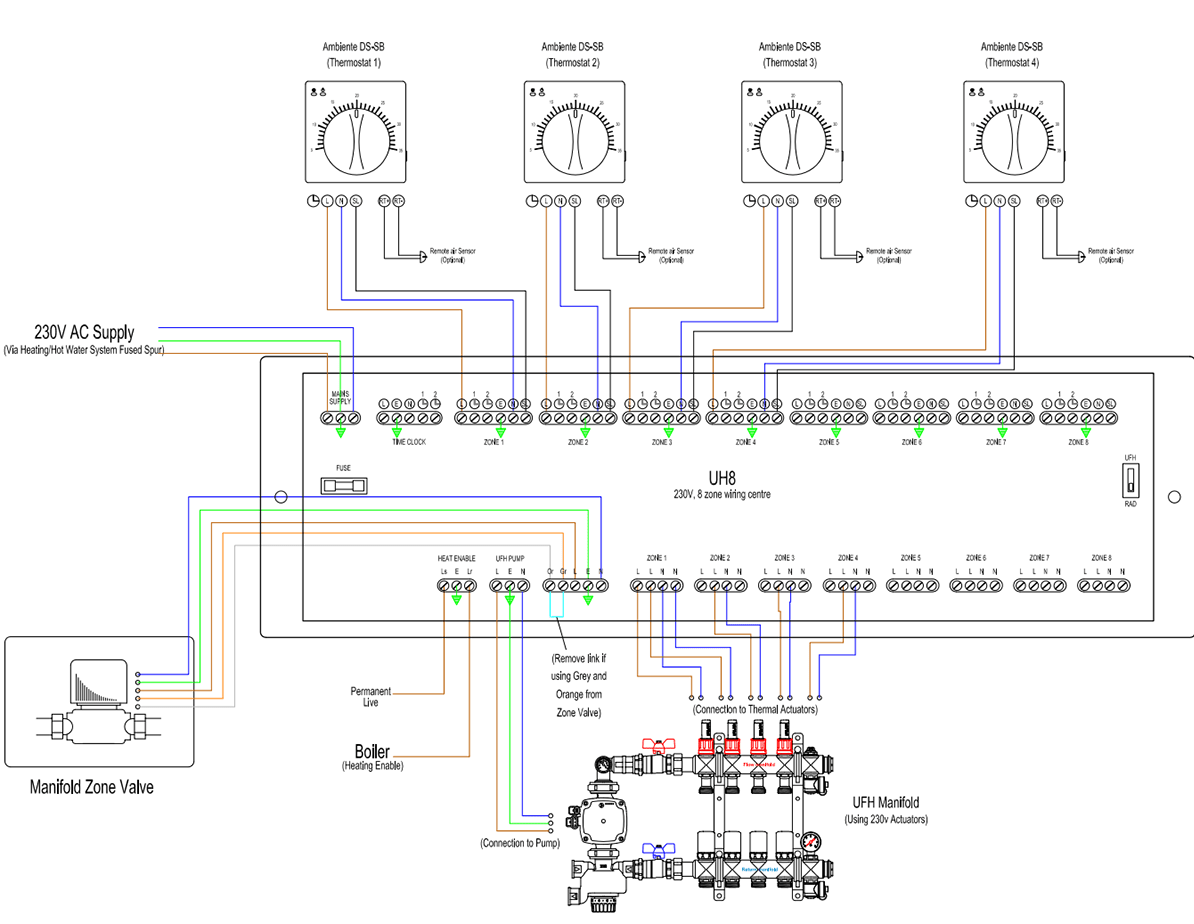 Floor Heating Controller Circuit Diagram Electronic Circuits ... on