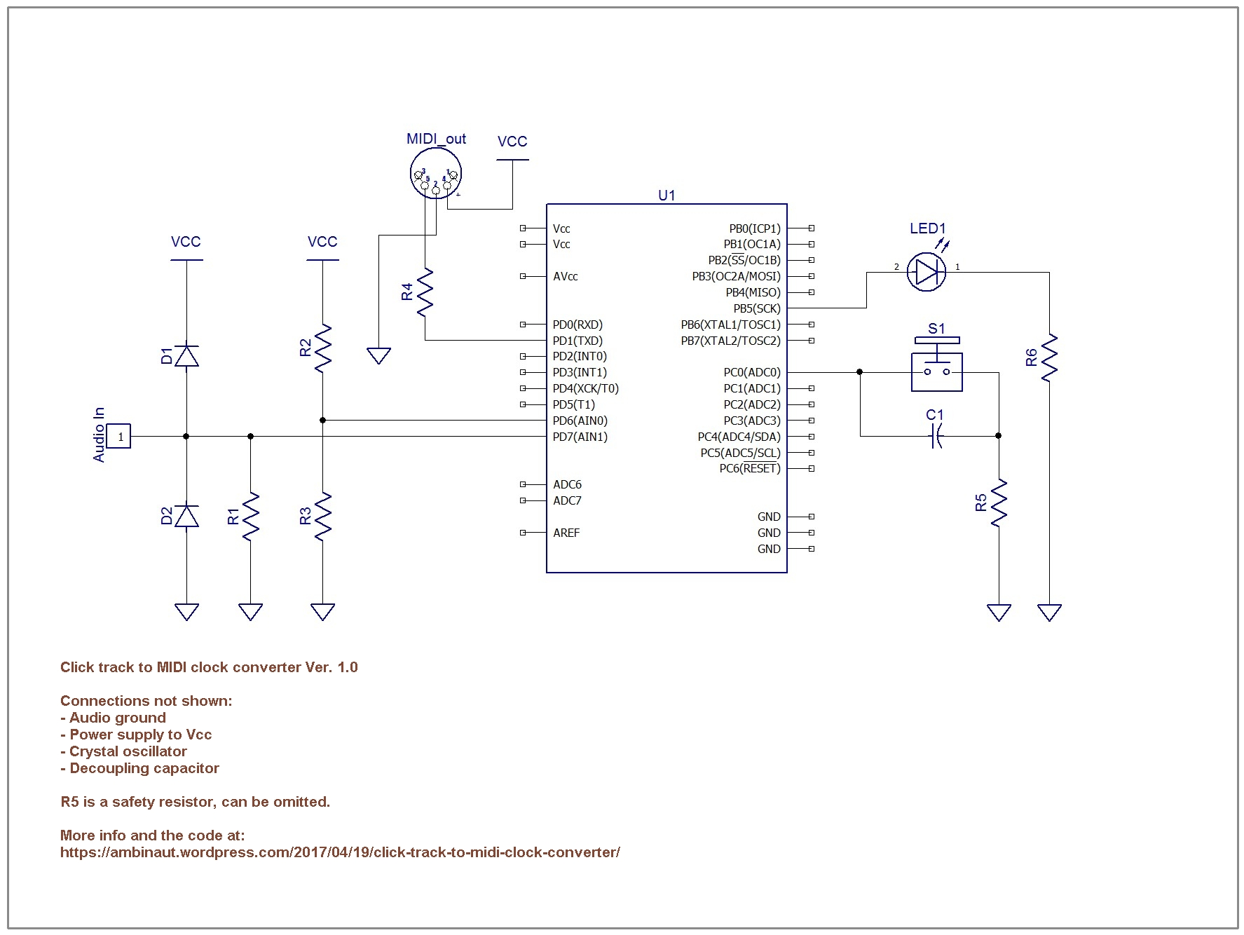 Click Track To Midi Clock Converter