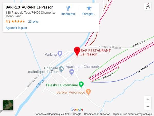 le passon chamonix-mont-blanc localisation