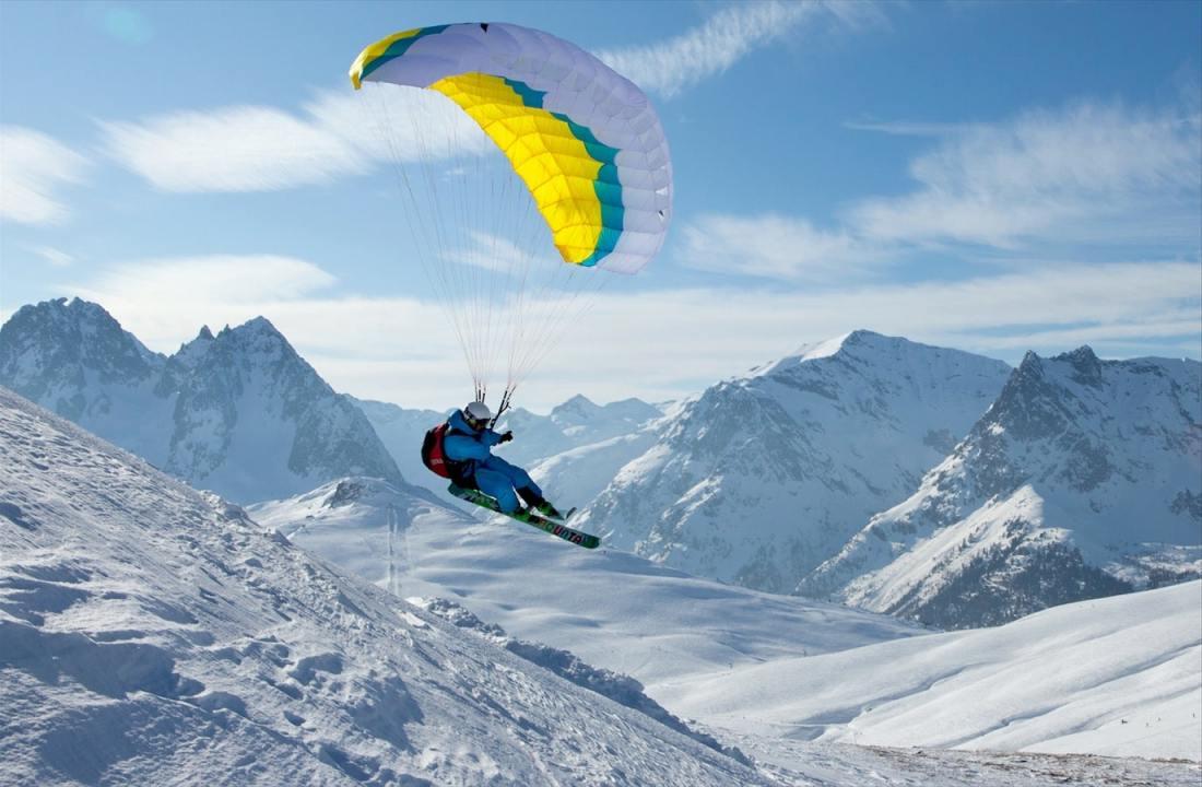 Speedriding à Chamonix-Mont-Blanc