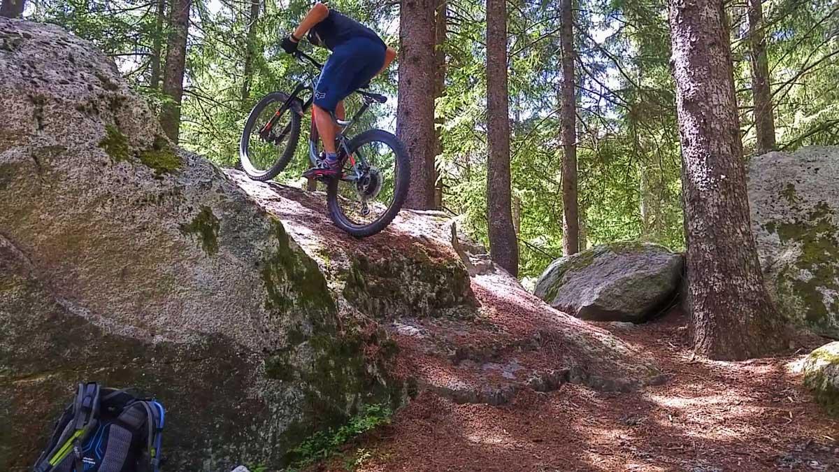 mountain bike trials demo