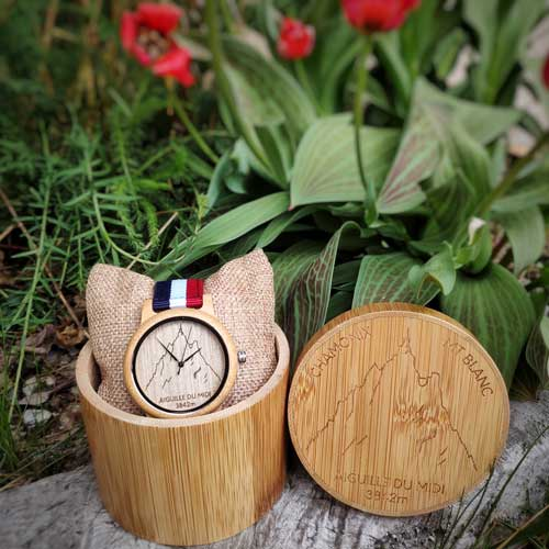 aiguille du midi bamboo watch