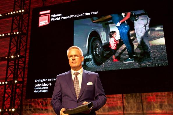 John Moore won the world press Photo Award 2019