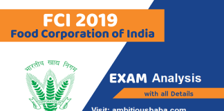 FCI Exam Analysis 2019