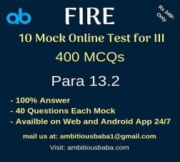 Fire mock test