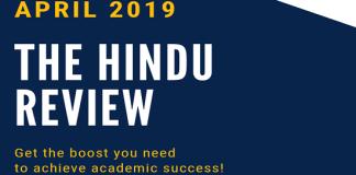 The hindu Review April 2019