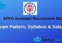 epfo assistant exam pattern syllabus salary 2019