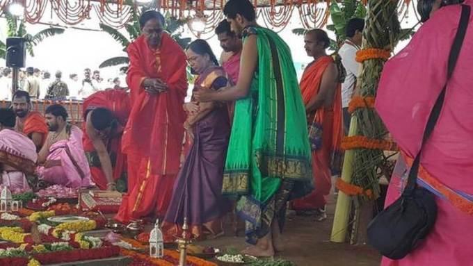 Telangana CM Chandrashekar Rao inaugurates Kaleshwaram project