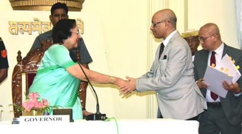 Justice (Retd) Nandakumar Singh sworn-in as Manipur's first Lokayukta chairman