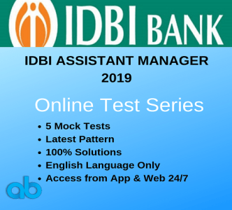 Copy of IDBI Assistant manager 2019 Online test series