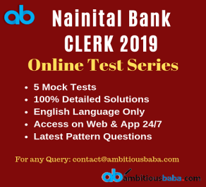 Nainital Bank Clerk test series