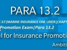 para 13.2 marine ONE LINER