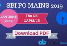 gk capsule sbi po 2019