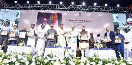 Home Minister Amit Shah releases book on VP M Venkaiah Naidu's two years in office