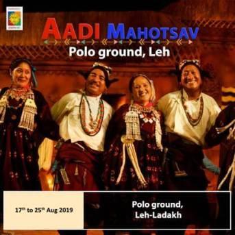 "National Tribal Festival ""Aadi Mahotsav"" ready for A Colourful Start at Leh-Ladakh"