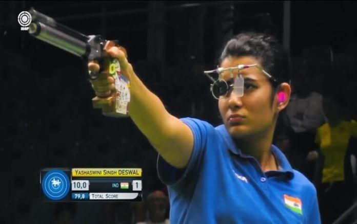 ISSF Rifle/Pistol World Cup, Day 4: Yashaswini bags gold, wins Olympic quota place