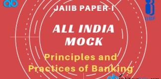 Jaiib Paper 1 all india free mock test