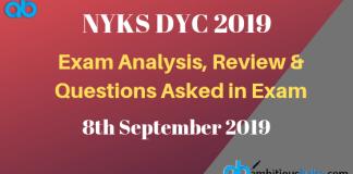 NYKS DYC Exam Analysis 2019