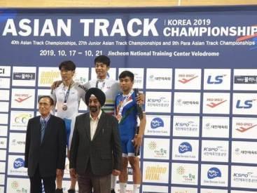 Ronaldo Singh wins gold medal at Asian Track Cycling Championships